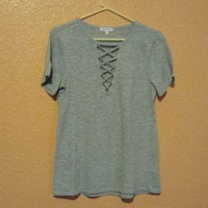 Like New Criss-Cross T-shirt Top